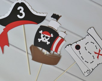 Pirate Centerpieces/Cake Toppers