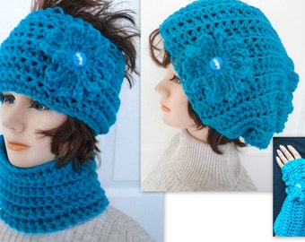 Balaclava Knitting Pattern Straight Needles : HAT AND SCARF PATTERNS IN KNITTING AND by HatAndScarfPatterns