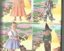 Toddler WIZARD of Oz Costume Pattern / DOROTHY, The Good Witch, TIN Man, Scarecrow / Size 1/2 - 1 - 2 - 3 - 4 / Uncut / S4024