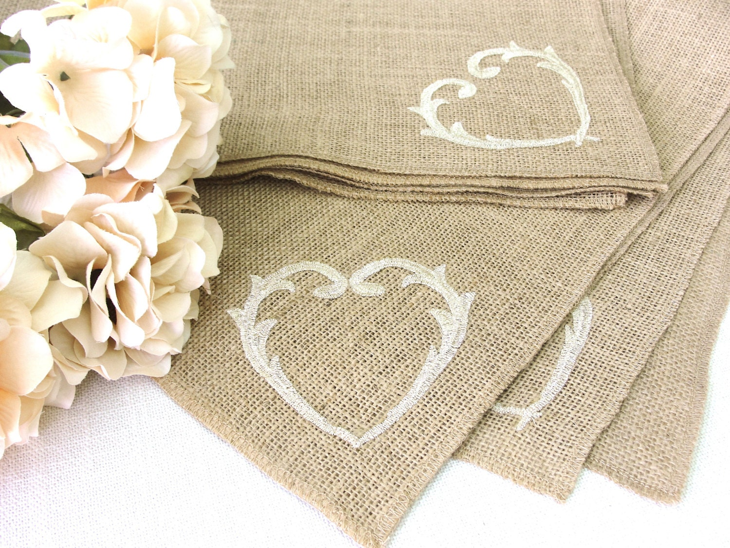 Rustic Burlap Table Topper Wedding Table Decor Vintage Gold