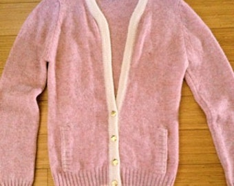 Vintage Pink Preppy Cardigan