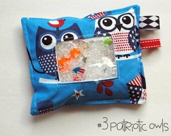 SALE Flag Patriotic Owl I Spy bag