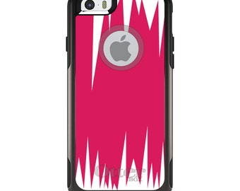 OtterBox Commuter for Apple iPhone 5S SE 5C 6 6S 7 8 PLUS X 10 - Custom Monogram - Any Colors - Hot Pink White Spikes