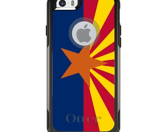 OtterBox Commuter for Apple iPhone 5S SE 5C 6 6S 7 8 PLUS X 10 - Custom Monogram - Any Colors - Arizona State Flag