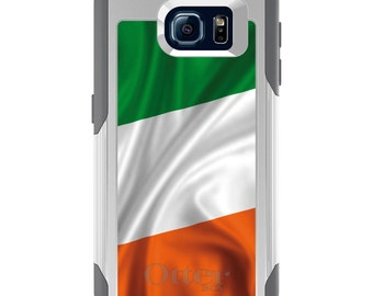 OtterBox Commuter for Galaxy S4 / S5 / S6 / S7 / S8 / S8+ / Note 4 5 8 - CUSTOM Monogram - Any Colors - Ireland Waving Flag