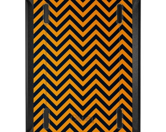 Custom OtterBox Defender for Apple iPad 2 3 4 / Air 1 2 / Mini 1 2 3 4 - Georgia Tech GT Yellow Jackets Colors - Chevron Pattern