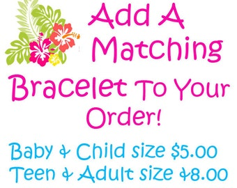 Add Matching Chunky Bracelet To Your Order Bubblegum Bracelet, Baby, Toddler, Girl, Women Choose Color Birthday Custom Color Photo Prop