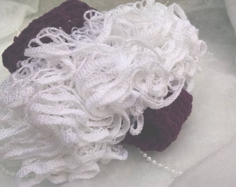Ruffled Diaper Cover - Deep Purple w/ White (photo prop, photography, or everyday!)