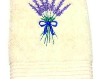 Bath Hand Towel | Lavender Bouquet Hand Towels | Hand Towels | FREE SHIPPING USA | Ready-to-Ship