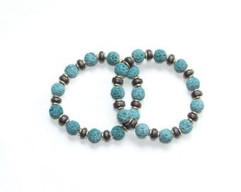 summer jewelry birthday gift colorful bracelet jewelry / lava bead bracelet / colorful bracelet / stretch bracelet / layering bracelet