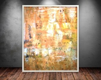 """abstract painting original acrylic modern contemporary large wall decor by Sandra Luks, size: 48"""" X 40"""" (120 X 100 cm)"""