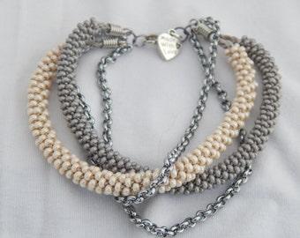 4 strand kumihimo bracelet