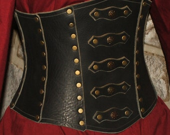 leather corset LARP COSPLAY