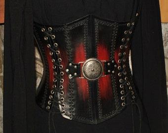 Leather corset LARP