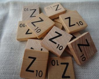 Scrabble Tile Letter Z