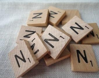 Individual Scrabble Tile Letter N