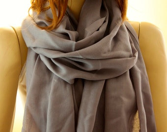 Gray cotton shawl, Fashion accessories, gift idea, shawl, scarf, scarves, wraps, women accessories, gray shawl, gray scarves, cotton scarf