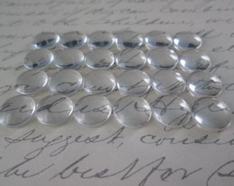 40 Pcs Clear Glass Cabochon, 10mm Glass Cabochon, Cameo Cover, Flat back Cabochon, Only 3mm High