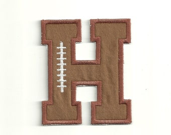 """Football Letter Patch, 4"""" Custom Made! LET5"""