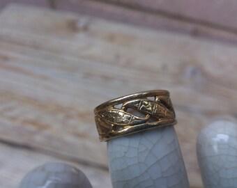 vintage Uncas band ring