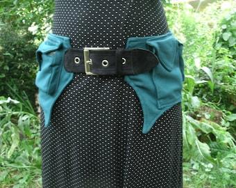 Green canvas bum bag Festival belt Hip Bag Woodland Pixie