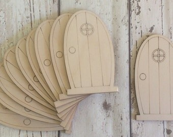 pack of 10 unpainted laser cut  faerie fairy doors perfect for crafting D4