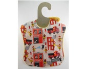 Fire! Fire! Fire! on this leakproof baby bib  (Ready to ship)