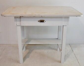 Vintage Desk with Metal Top