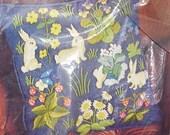 Emboroidery Kit Pillow Bunnies Vintage 1973 French Tapestry Pauline Denham
