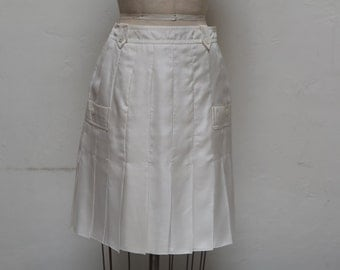 Yves Saint Laurent Silk Skirt  white