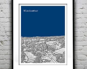 Winchester Skyline Poster Art Virginia VA Version 2