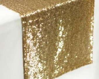 Sequin Gold Table Runner - Stunning Elegant