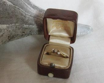 Vintage 18 K Diamond Ring