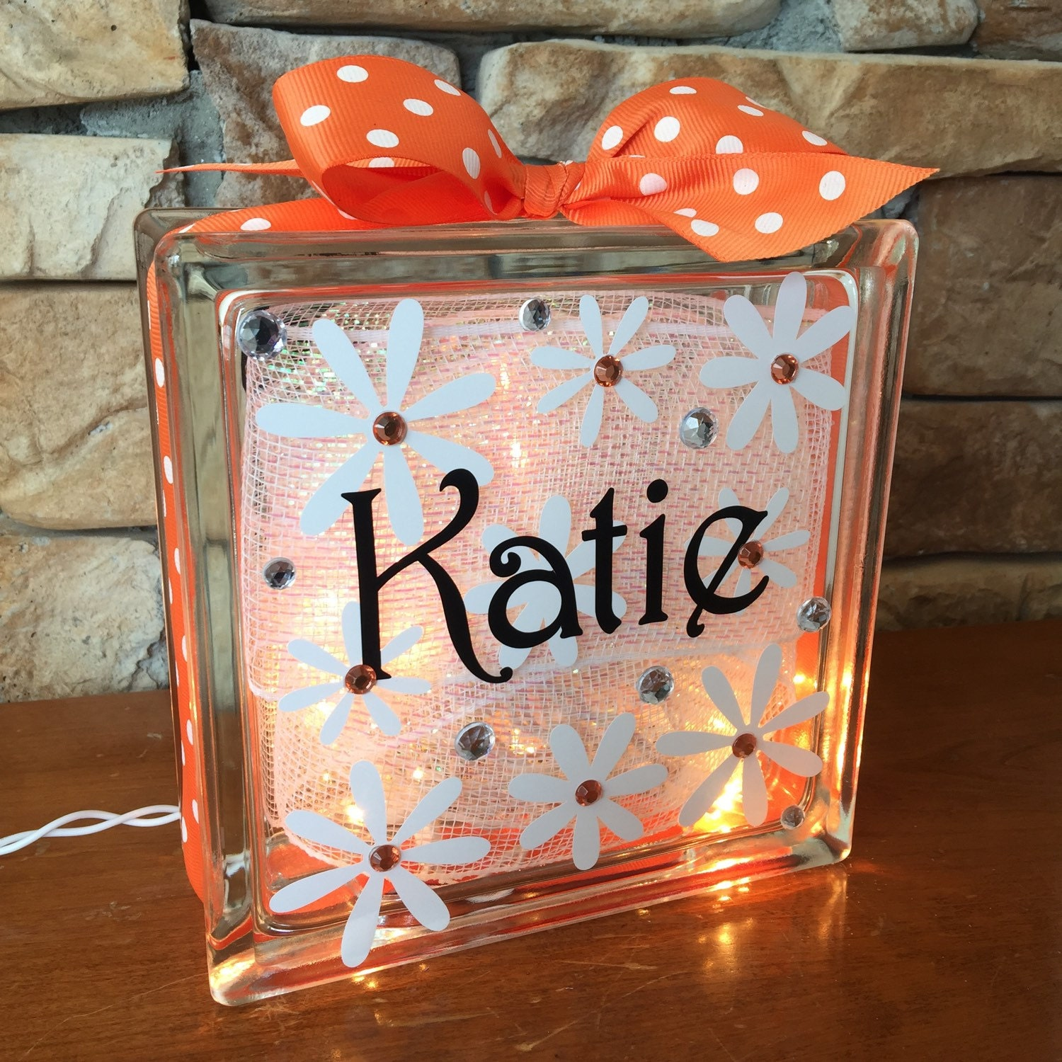 Daisies GemLight Personalized Home Decor Accessories