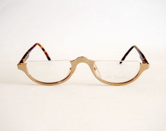 Vintage Eyeglasses Frames Les Copains L.C. 23 Lector Oval Oliver style Made in Italy
