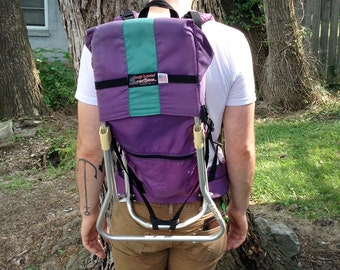 Purple and Turquoise Tough Traveler Kid Carrier Backpack