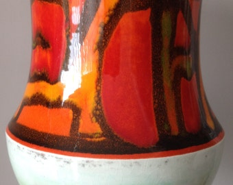Stunning vintage retro Poole Delphis hand made pottery vase with no damage Carol Cutler 1970s