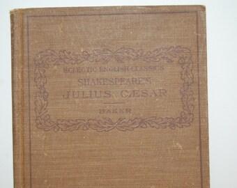 Vintage Book Julius Caesar, Eclectic English Classics, Shakespeare