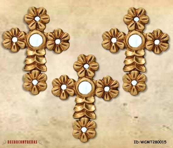 Gold Cross Wall Decor : Items similar to decorative wall cross home decor