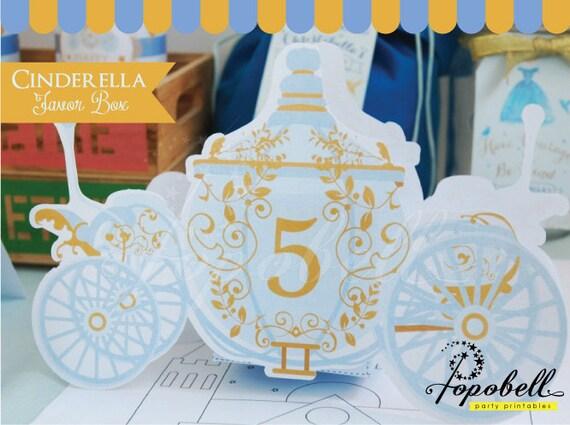 Cinderella Carriage Favor Boxes : Cinderella favor box for birthday party