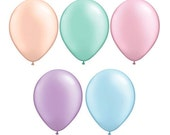"""Top Quality 11"""" PASTEL Pearl Latex Balloons 