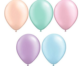 """Top Quality 11"""" PASTEL PEARL Latex Balloons - by Celebration Lane"""