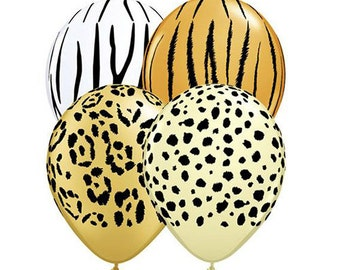 "SALE! -- Jungle Assortment 11"" Latex Balloons (12 Count) - See Description"