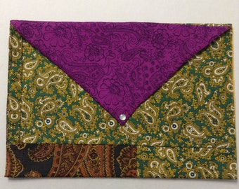 Mixed Paisley Over-sized  Envelope Clutch