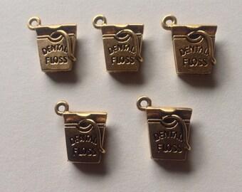 FIVE (5) Dental Floss Charms
