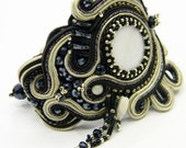 Bracelet LUNA collection  - Soutache embroidery bracelet