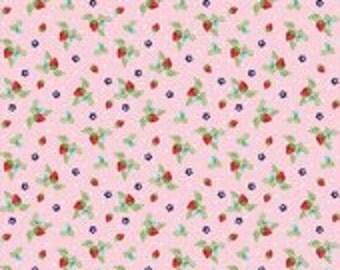 Vintage Market Strawberries Pink by Tasha Noel for Riley Blake