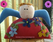 Flower Angel Felt Doll