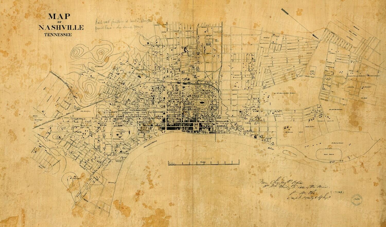 Old Map Of Nashville Tennessee 1860 Restoration Hardware