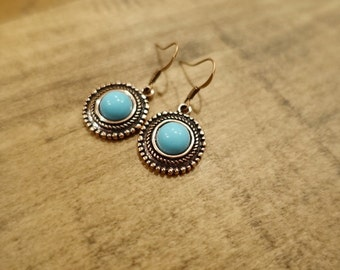 Bright Turquoise Earrings